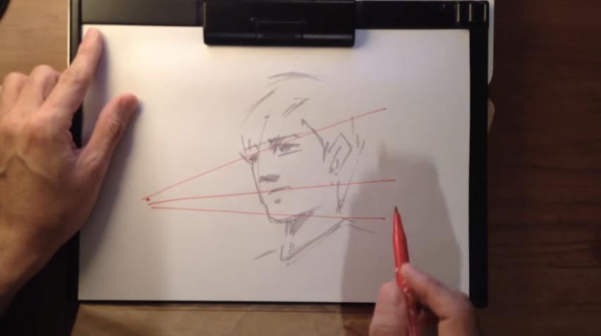 そこから三角形を描いているわけですね