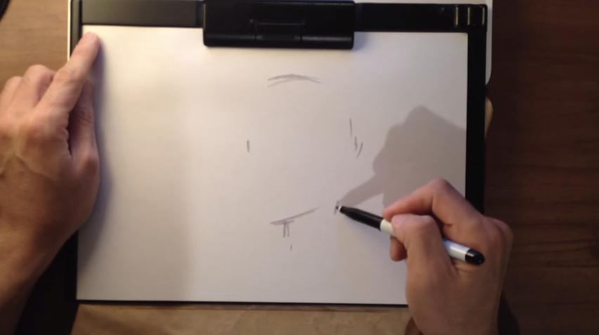 まず、ざっと人の顔を描いてみます。