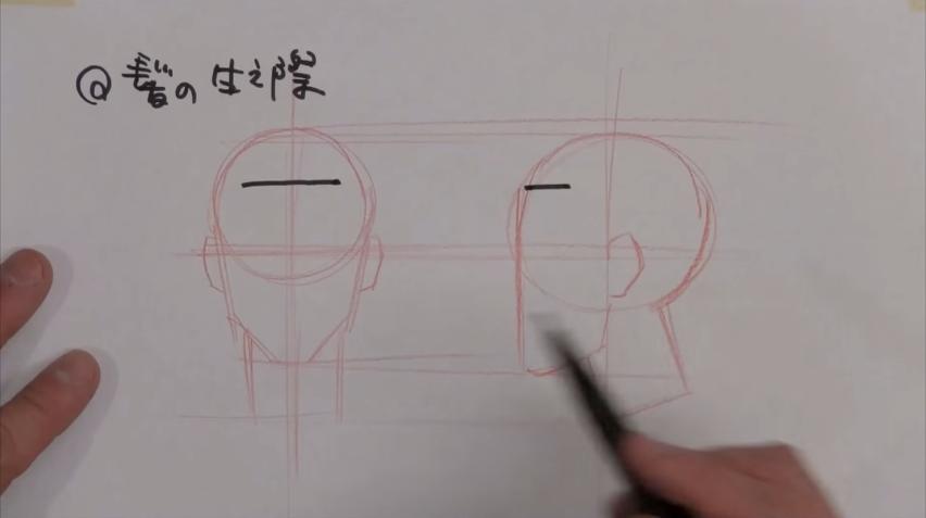 前面部の描き方