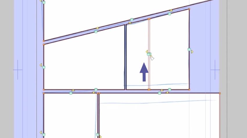 四角をクリックで辺の移動