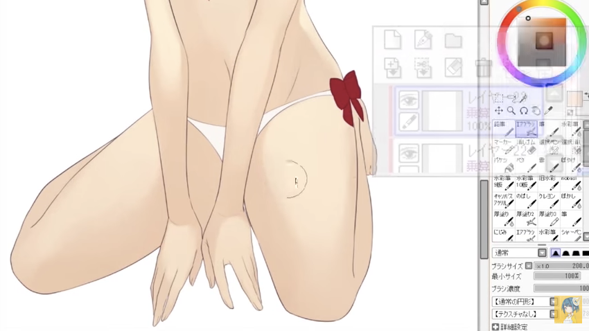 女性キャラクターの肌の塗り方講座_by_Aちき|漫画・イラストの描き方講座:お絵描きのPalmie(パルミー)_-_YouTube_2