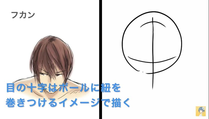 顔の描き方講座_by_shori_|マンガ・イラストの描き方講座:お絵描きのPalmie(パルミー)_-_YouTube 9