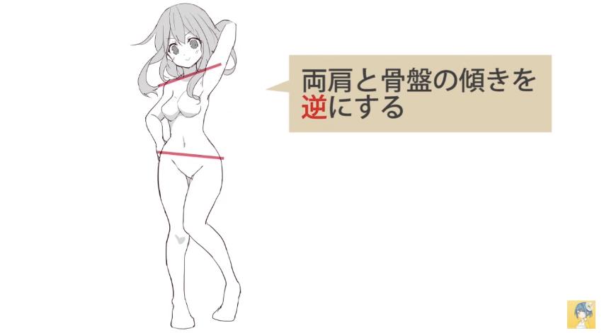 動きのあるポーズをマスターする!キャラクター講座|マンガ・イラストの描き方講座:お絵描きのPalmie(パルミー)_-_YouTube 9